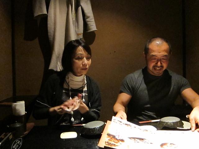 Sayoko and Hiko ordering