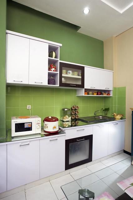 Rumah Minimalis Dapur Warna Hijau