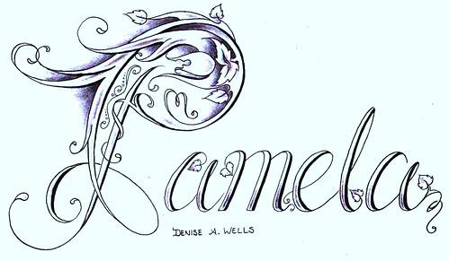 Pamela Tattoo Design by Denise A. Wells