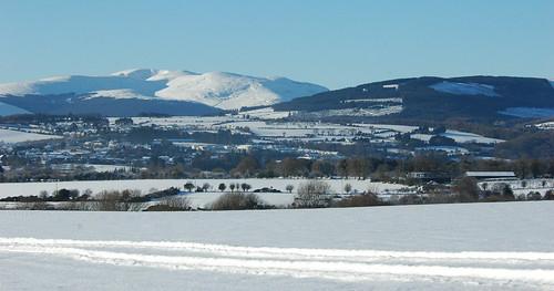 Snow Wicklow Mountains