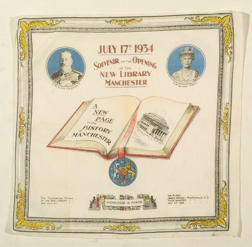 Souvenir handkerchief, 17 Jul 1934 (GB127.M740/8/4/3/6)