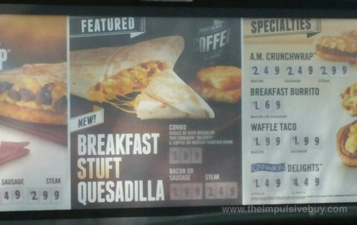 Taco Bell Breakfast Stuft Quesadilla