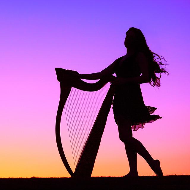 Sarah Marie Mullen Purple Silhouette by gbrummett