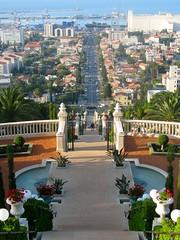 Haifa's German Colony as seen from the Bahai Gardens by Lorenia, on Flickr