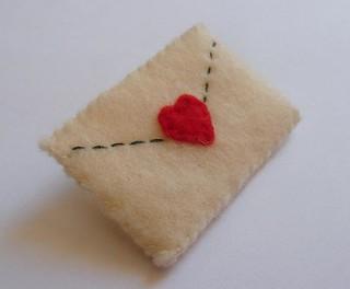 Love Letters Felt Pin