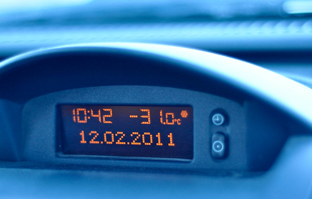 In-car thermometer