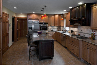 kitchen mobile island pub style table remodeling: maple coffee cabinets and chocolate ...