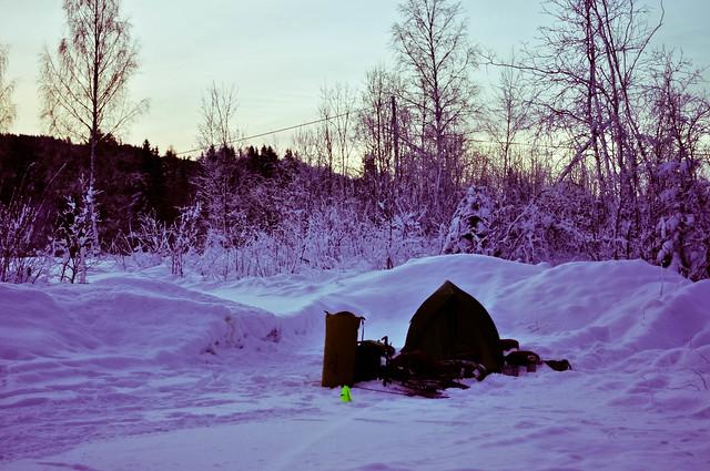 Chilly campsite near Rena