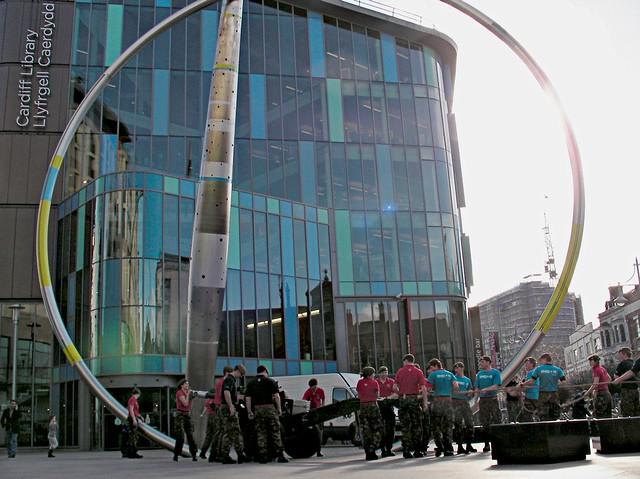 Yoga Flashmob in Cardiff