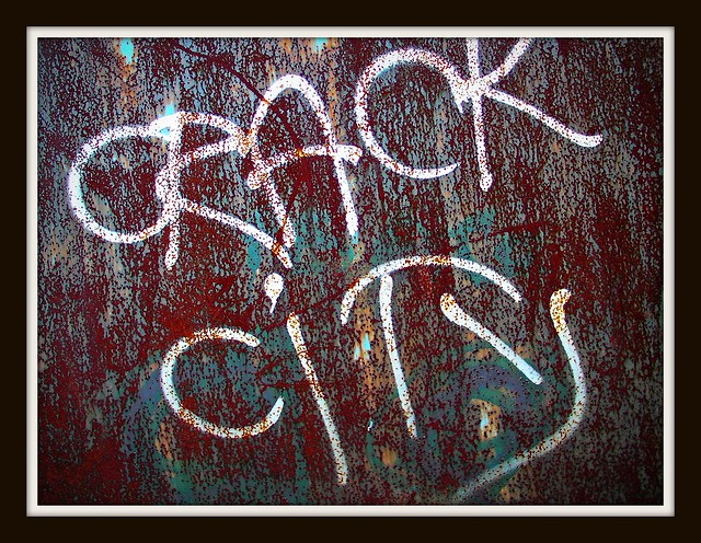 """Crack City"" graffiti in Grangetown"
