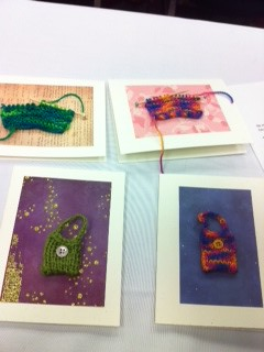 The results of our card knitting class! Lorna Miser