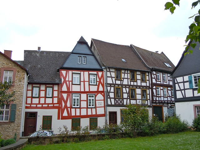 Crooked little house in Eltville, Germany
