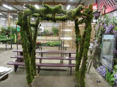 mossy wedding arch