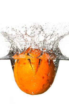 Fruits being Dropped into a Fish Tank (the first few tries) (2/5)