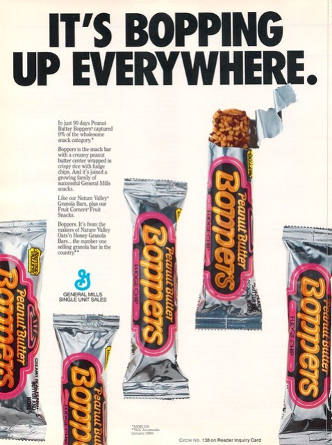 General Mills - Peanut Butter Boppers - trade ad - July 1986