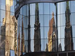 Old Vienna Reflected In New Vienna