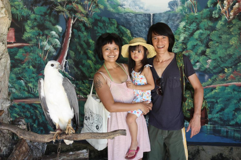 family photo with sea eagle