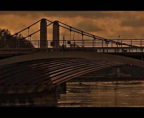 Sunset Under Chelsea Bridge