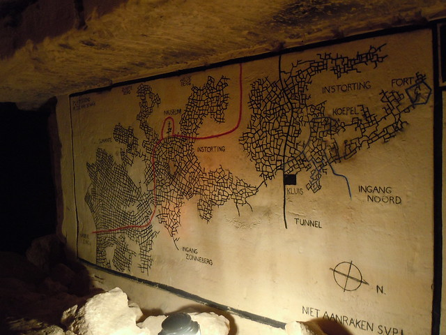 Caves of St. Pietersberg map