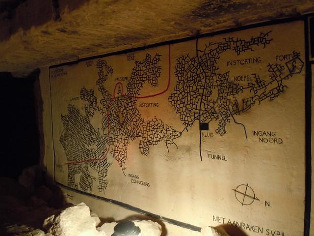 Caves of St. Pietersberg map