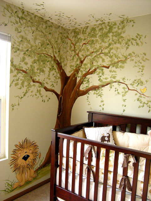Jungle Nursery Mural Whimsical Tree Amp Cute Lion Flickr Photo Sharing