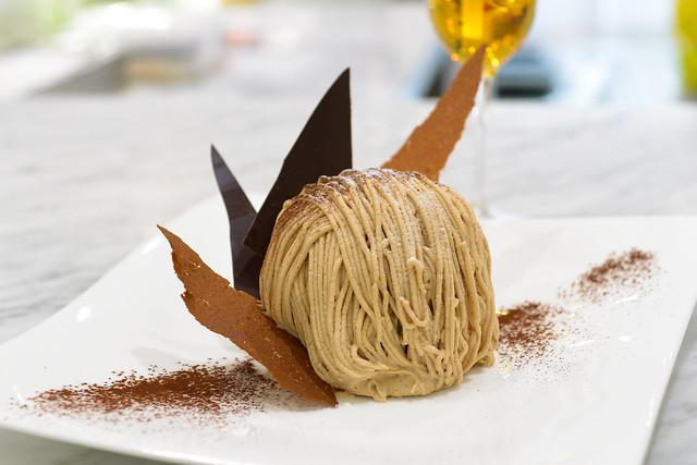 Mt. Fuji chestnut cream cake