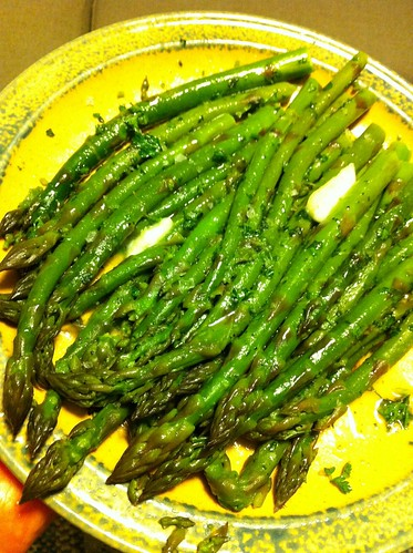 Skillet Asparagus with Chervil Butter