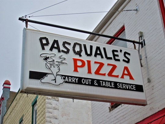 Pasquale's Pizza - 122 South High Street, Hillsboro, Ohio U.S.A. - April 4, 2013