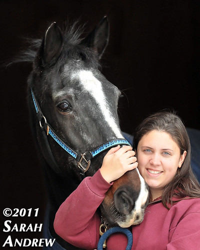Brittany Rostron, founder of Project Sage Horse Rescue (and Sal!)
