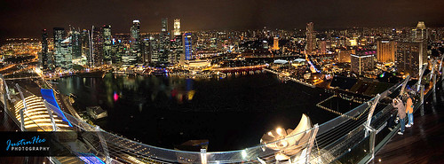 Singapore Night View @ Marina Bay Sands