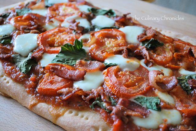 Margherita Pizza with Crispy Bacon