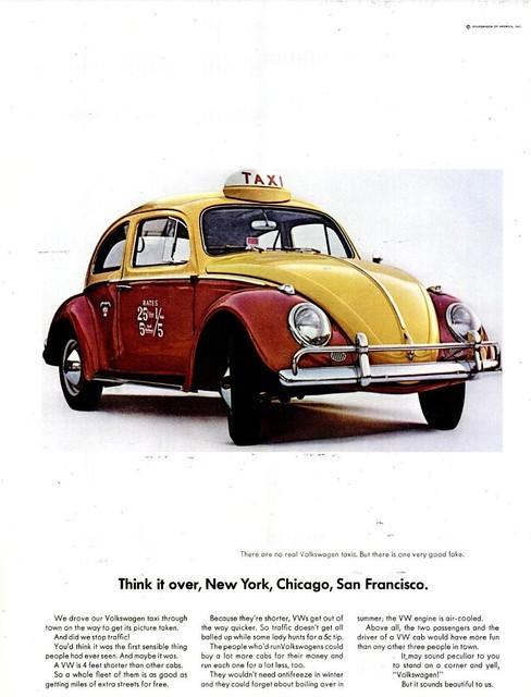 VW BEETLE AD LIFE MAG JUL 31, 1964