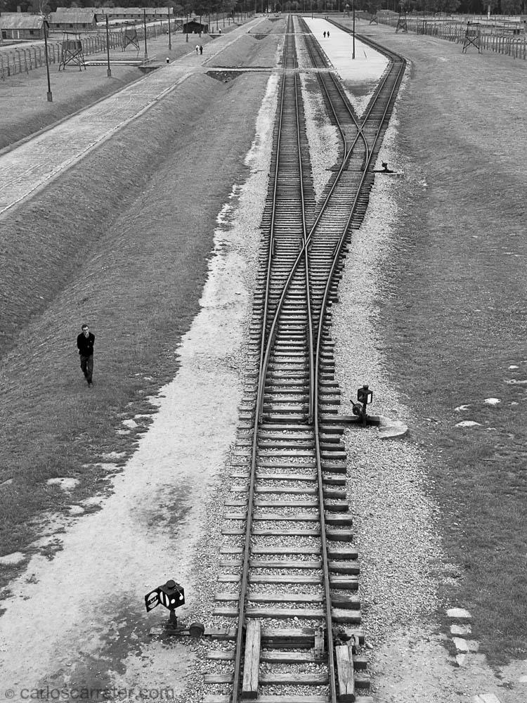 Auschwitz II - Birkenau; acceso ferroviario