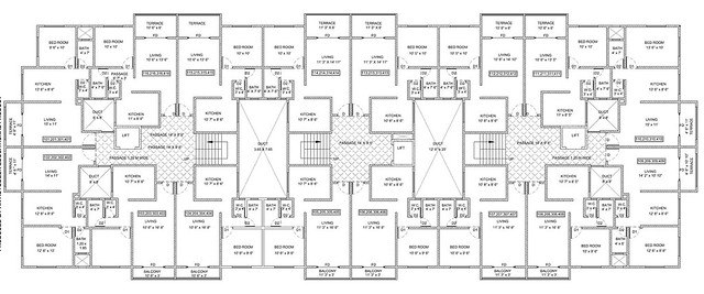 Floor plan of Spacious 1 BHK Flat for 11 Lakhs at