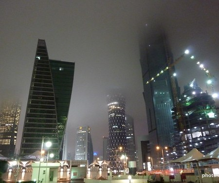 Rain = Happiness = Mist = no top to the Towers ;-)