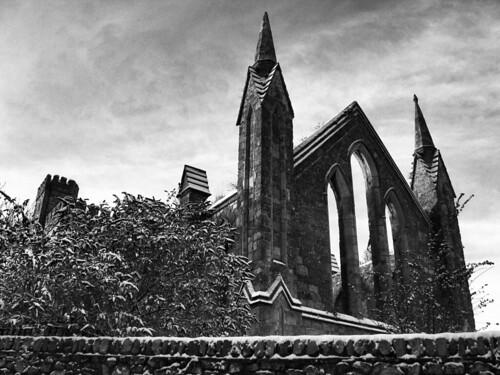 Wexford church black and white