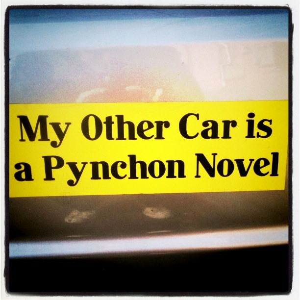 My Other Car Is A Pynchon Novel