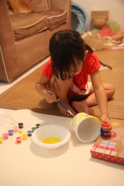painting the snail pot