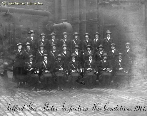 Salford Gas Meter Inspectors, 1917