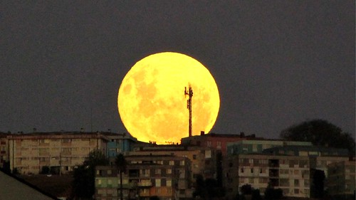#Supermoon Viña del Mar, Chile