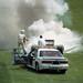 1991 F1 Canadian Grand Prix Aguri Suzuki's Larrousse getting the fire department treatment