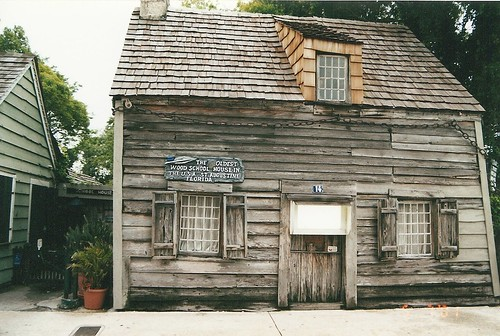 St Augustine May 2001 - Oldest Wooden Schoolhouse