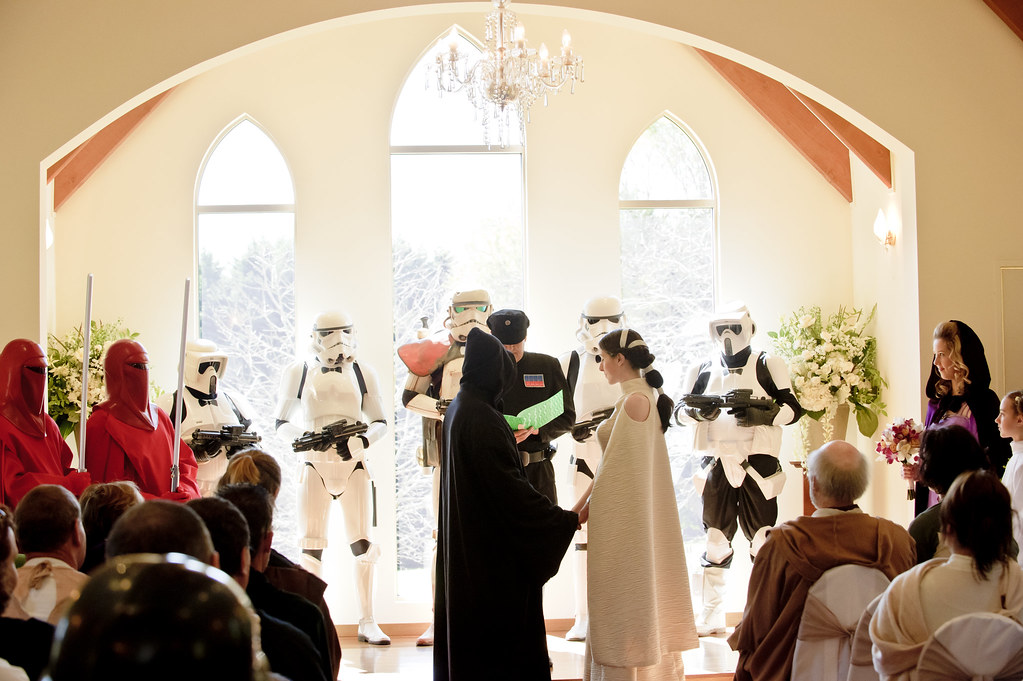 Nadia  Dales wookiee boogie Star Wars wedding  Offbeat Bride