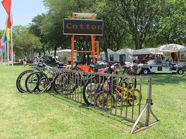 Bike Parking at the Cottonwood Arts Festival