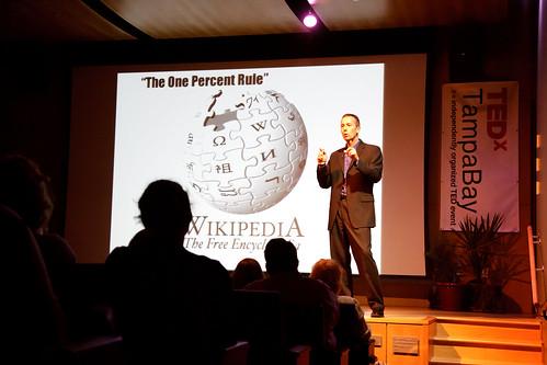 Peter Kageyama presenting at TEDxTampaBay 2011