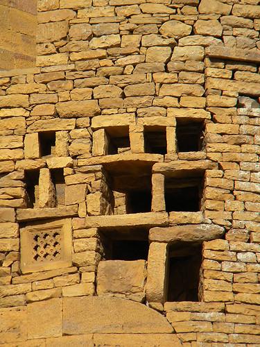Jaisalmer golden stone wall