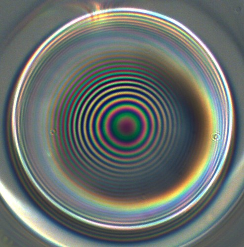 More white light interference on the end facet of an optical fibre