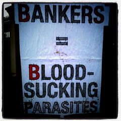 Bankers = blood sucking parasites #march26 #26march #ukuncut