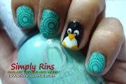 nail art penguins simply rins