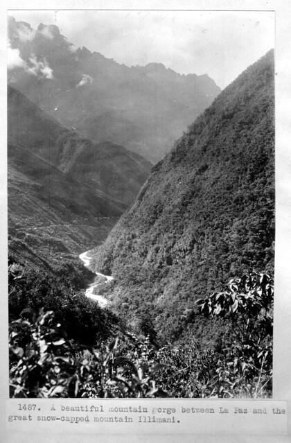 Mountain gorge near La Paz, Bolivia